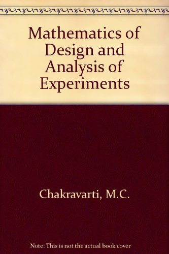 9780210338995: Mathematics of Design and Analysis of Experiments