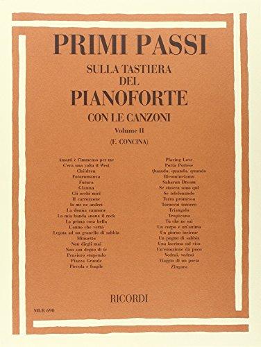 9780215106902: PRIMI PASSI SULLA TASTIERA DEL PIANOFORTE CON LE CANZONI