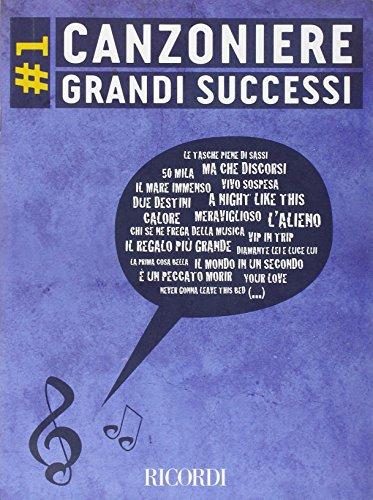 9780215108869: CANZONIERE GRANDI SUCCESSI 1