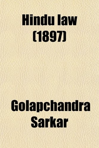9780217001137: Hindu Law; With an Appendix of Mahomedan Law of Inheritance