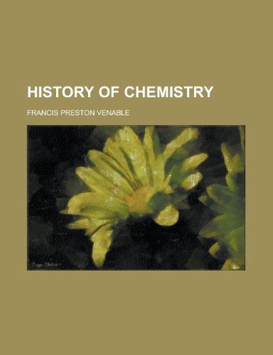 9780217003360: History of Chemistry