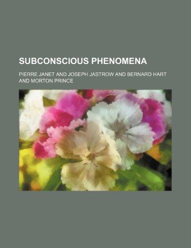9780217059688: Subconscious Phenomena