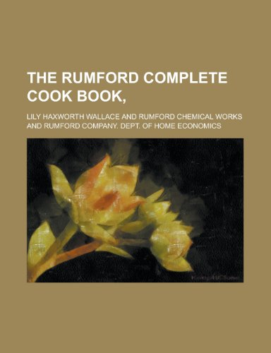 9780217283212: The Rumford complete cook book,