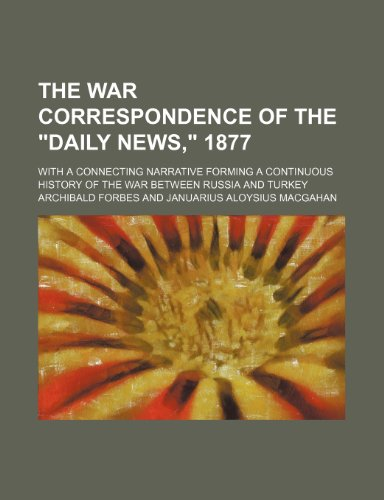 9780217298377: The War Correspondence of the