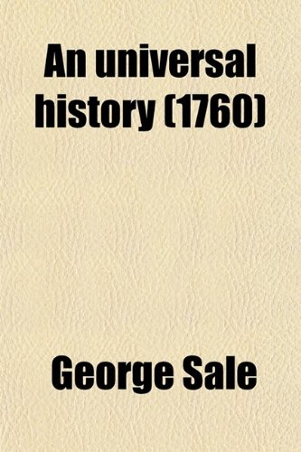 9780217682589: An Universal History (Volume 20); From the Earliest Accounts to the Present Time