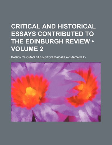 9780217697040: Critical and Historical Essays Contributed to the Edinburgh Review (Volume 2)