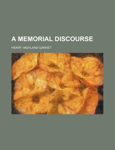 9780217759618: A Memorial Discourse