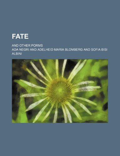 9780217802352: Fate; and other porms