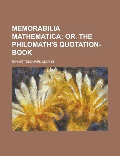 9780217865210: Memorabilia mathematica