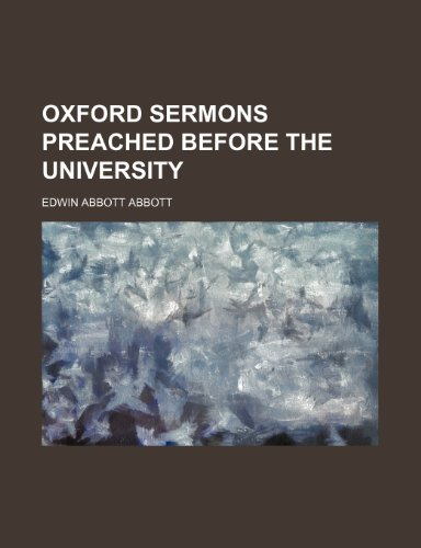 9780217881845: Oxford Sermons Preached Before the University