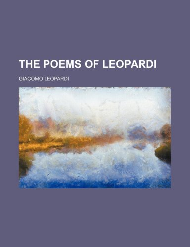 9780217927949: The poems of Leopardi
