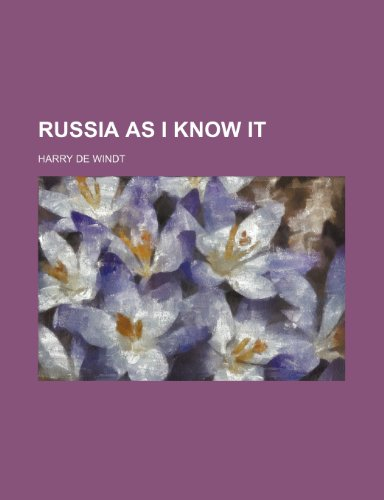 9780217987080: Russia as I Know It