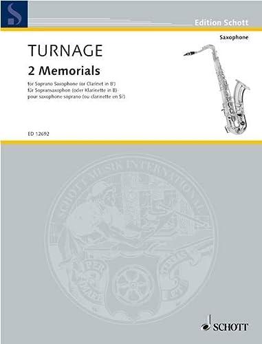 9780220119867: Two Memorials for Solo Soprano Saxophone