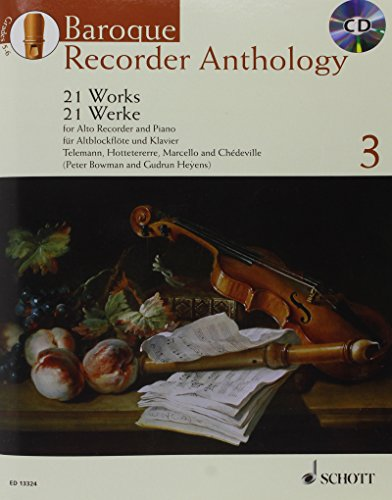 9780220132132: Baroque Recorder Anthology Volume 3 +CD (21 pièces) --- Flûte à bec Alto / Piano
