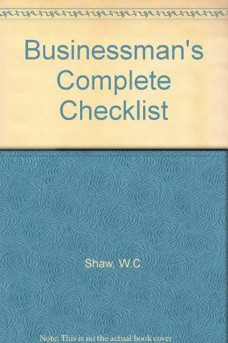 9780220663599: Businessman's Complete Checklist