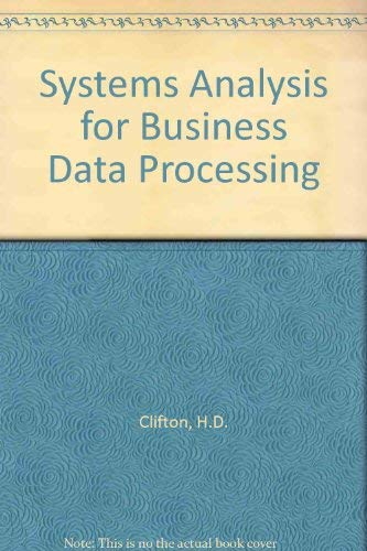 9780220663698: Systems Analysis for Business Data Processing