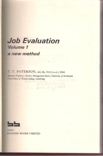 9780220668426: Job Evaluation: A New Method v. 1