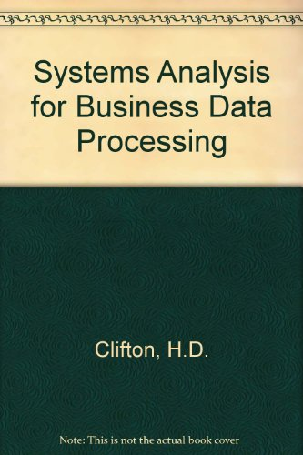 9780220992231: Systems Analysis for Business Data Processing