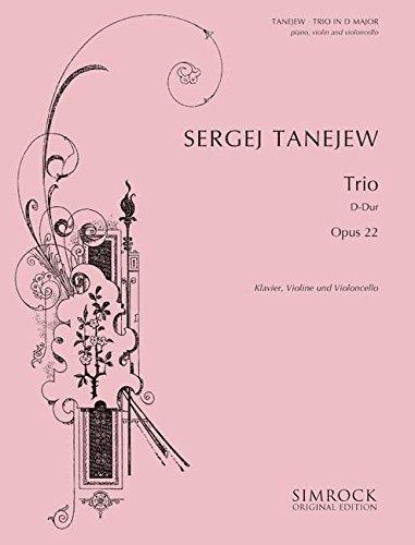 9780221102691: Piano Trio in D Op22. Partituras para Cello, Violín, Acompañamiento de Piano