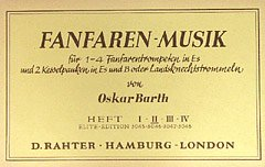 9780221109706: Fanfare Music 2. Partituras para Percusión