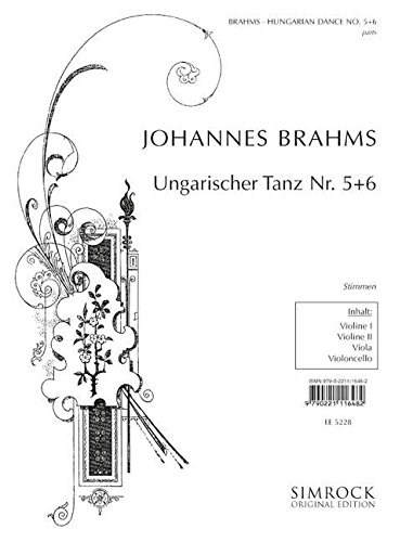 9780221116483: Partition classique SIMROCK BRAHMS JOHANNES - HUNGARIAN DANCES 5 & 6 - STRING QUARTET Ensemble à cordes