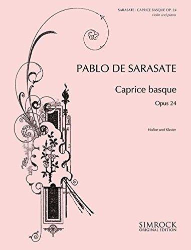 9780221120435: Sarasate: Caprice Basque Op.24 (Violin & Piano)