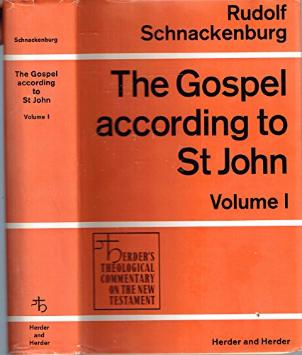 9780223178892: The Gospel according to St. John; (Herder's theological commentary on the New Testament)