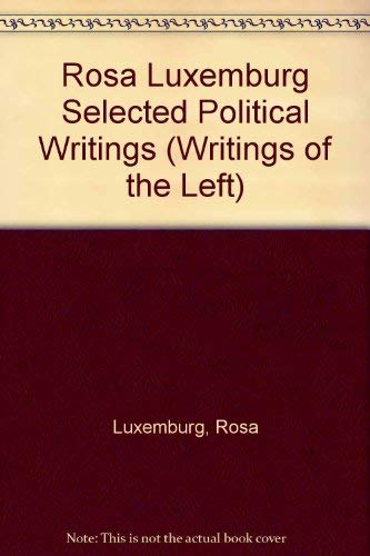 9780224005968: Selected Political Writings (Writings of the Left) (English and German Edition)