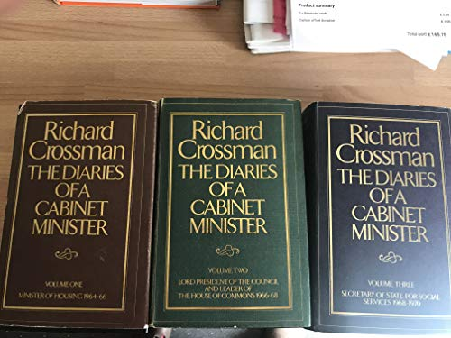 9780224014922: The Diaries of a Cabinet Minister : Volume Three - Secretary of State for Social Services 1968-1970