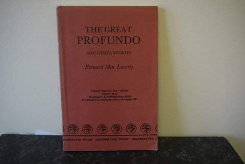 9780224024839: The Great Profundo and Other Stories