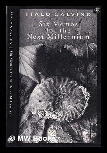 9780224033114: Six Memos for the Next Millennium