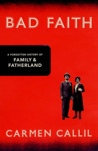 9780224078726: Bad Faith : A Forgotten History of Family and Fatherland