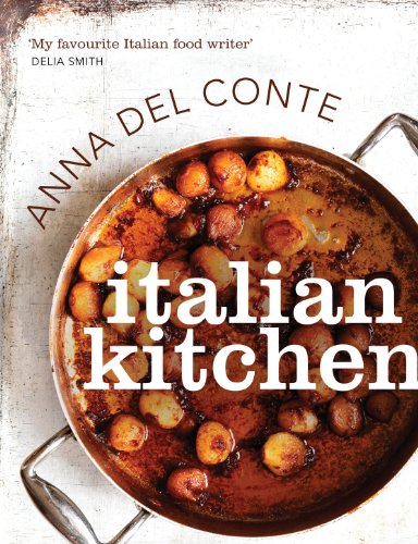 Italian Kitchen 9780224095365 Italian Kitchen is a classic Italian cookbook and an essential for any modern household.   With four chapters -- Antipasti, Pasta, Risottos and Dolci -- Italian Kitchen is a bible for the fundamentals of Italian cooking. There are simple starters like Bruschetta with Tomato; timeless pasta sauces like Pesto; distinctive risottos; and delectable puddings like Chocolate and Pear Cake.   Anna Del Conte is the grande dame of Italian cooking. After moving to England from Milan, she wrote her first book, Portrait of Pasta, in 1975. She was the first cookery writer in England to specialise in Italian cooking and she inspired today's generation of chefs.   Italian Kitchen resonates with Anna's flair and expertise. Her lively style is punctuated by descriptions of regional dishes, a guide to really understanding pasta, Italian gastronomic traditions, and much more. First published as four separate volumes, these recipes have here been brought together into a single edition with exquisite photography throughout. It is a modern classic by Britain's most influential Italian cookery writer.