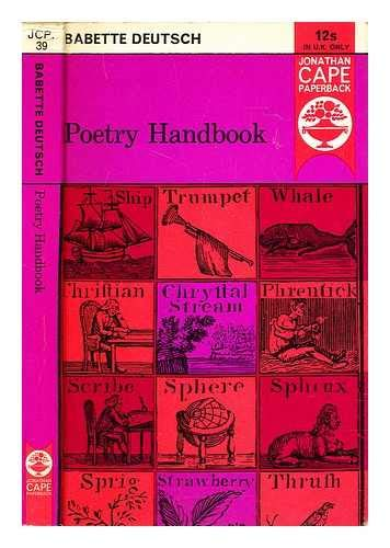 9780224610216: Poetry Handbook: A Dictionary of Terms