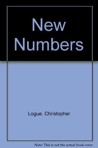 New Numbers (0224617036) by Christopher Logue