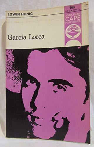 García Lorca (Jonathan Cape Paperback; 74): Honig, Edwin