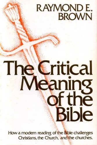 9780225663259: Critical Meaning of the Bible How a Mode