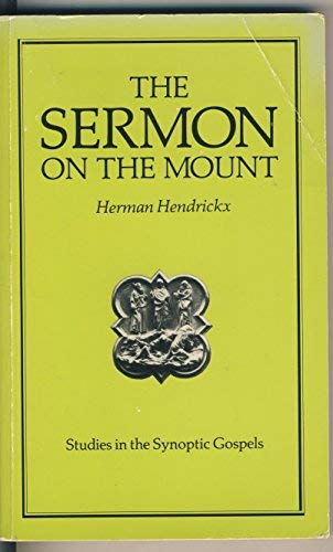 9780225663990: The Sermon on the Mount (Studies in the Synoptic Gospels)