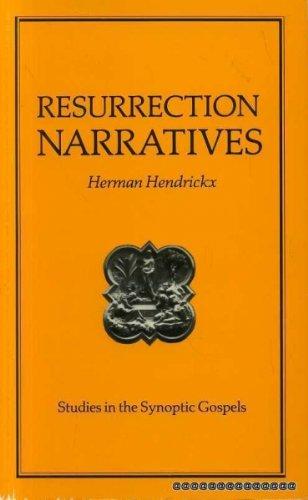 9780225664010: RESURRECTION NARRATIVES Studies in the Synoptic Gospels