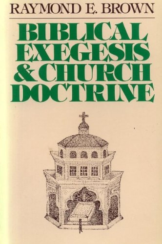 9780225664782: BIBLICAL EXEGESIS & CHURCH DOCTRINE