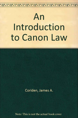 9780225666533: An Introduction to Canon Law