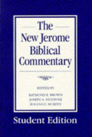 9780225667349: The New Jerome Biblical Commentary (Student Edition)
