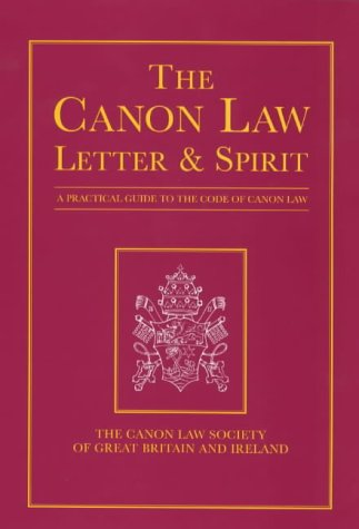 9780225668810: Canon Law: Letter and Spirit