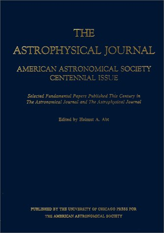 9780226001852: American Astronomical Society Centennial Issue of the Astrophysical Journal