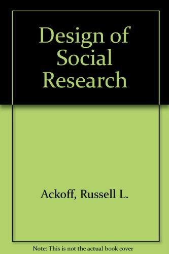9780226002552: Design of Social Research