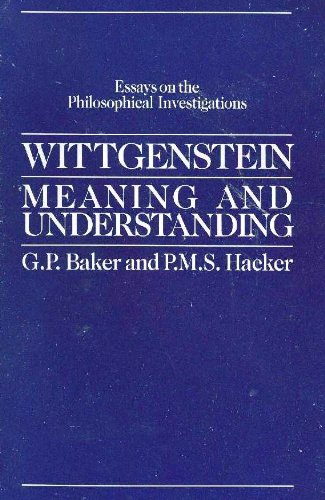 9780226035406: Wittgenstein, Meaning and Understanding (Essays on the Philosophical Investigations, Vol. 1)
