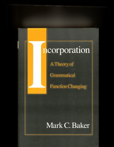 Incorporation (A Chicago original paperback) (0226035425) by Mark C. Baker