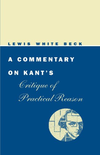 9780226040752: A Commentary on Kant's Critique of Practical Reason (Phoenix Books)