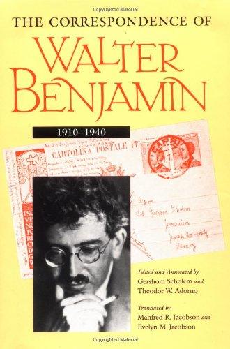 9780226042374: The Correspondence of Walter Benjamin, 1910-1940