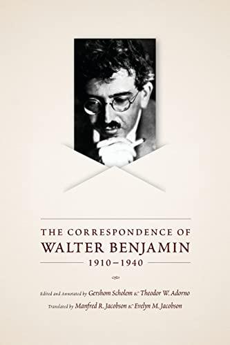 9780226042381: The Correspondence of Walter Benjamin, 1910-1940
